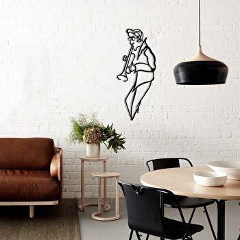 Decoratiune pentru perete, Pirudem, metal 100 procente, 30 x 70 cm, 826PIR2072, Negru imagine 2021