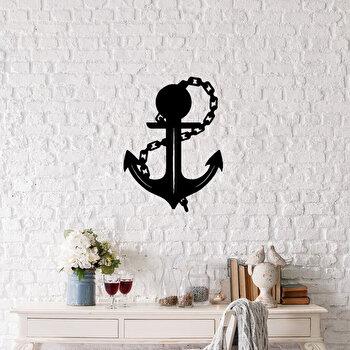 Decoratiune pentru perete, Ocean, metal 100 procente, 42 x 58 cm, 874OCN1007, Negru