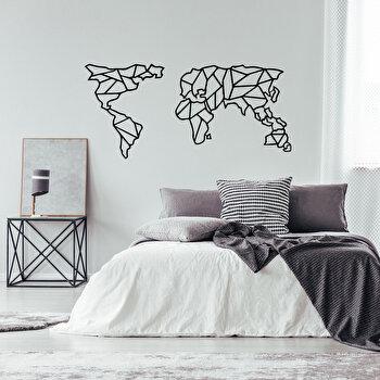 Decoratiune pentru perete, Ocean, metal 100 procente, 120 x 58 cm, 874OCN1062, Negru