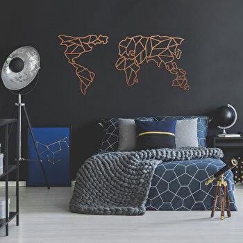 Decoratiune pentru perete, Ocean, metal 100 procente, 120 x 58 cm, 874OCN1060, Maro elefant