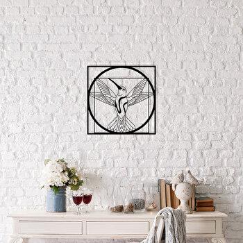 Decoratiune pentru perete, Ocean, metal 100 procente, 50 x 50 cm, 874OCN1018, Negru