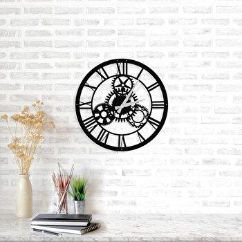 Ceas decorativ pentru perete, Ocean, metal 100 procente, 46 x 46 cm, 874OCN2007, Negru elefant