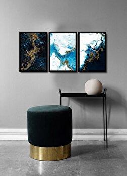 Tablou decorativ, Alpyros, MDF 100 procente, PVC100 procente, 3 piese, 112 x 51 cm, 841APY3101, Multicolor
