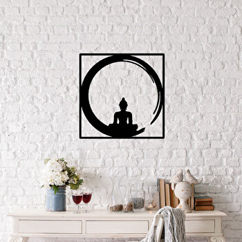 Decoratiune pentru perete, Ocean, metal 100 procente, 50 x 50 cm, 874OCN1004, Negru imagine
