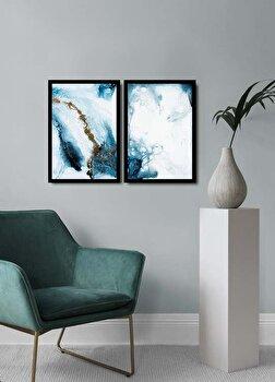 Tablou decorativ, Alpyros, MDF 100 procente, PVC100 procente, 2 piese, 74 x 51 cm, 841APY2108, Multicolor