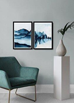 Tablou decorativ, Alpyros, MDF 100 procente, PVC100 procente, 2 piese, 74 x 51 cm, 841APY2110, Multicolor