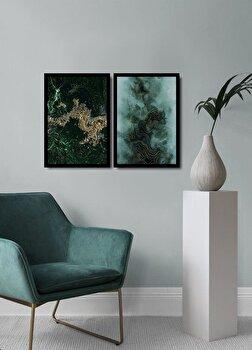 Tablou decorativ, Alpyros, MDF 100 procente, PVC100 procente, 2 piese, 74 x 51 cm, 841APY2111, Multicolor imagine