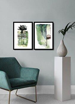 Tablou decorativ, Alpyros, MDF 100 procente, PVC100 procente, 2 piese, 74 x 51 cm, 841APY2114, Multicolor