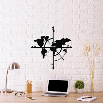 Decoratiune pentru perete, Ocean, metal 100 procente, 48 x 50 cm, 874OCN1001, Negru elefant