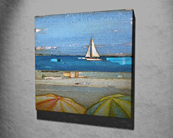 Tablou decorativ, Vega, Canvas 100 procente, lemn 100 procente, 45 x 45 cm, 265VGA1071, Multicolor imagine