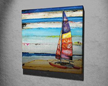 Tablou decorativ, Vega, Canvas 100 procente, lemn 100 procente, 45 x 45 cm, 265VGA1075, Multicolor