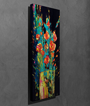 Tablou decorativ, Vega, Canvas 100 procente, lemn 100 procente, 30 x 80 cm, 265VGA1226, Multicolor imagine