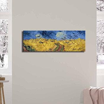 Tablou decorativ, Canvart, Canvas, 30 x 90 cm, lemn 100 procente, 249CVT1382, Multicolor