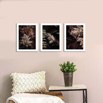 Tablou decorativ, Onno, MDF 100 procente, 3 piese, 94 x 40 cm, 264ONN3103, Multicolor