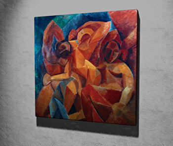 Tablou decorativ, Vega, Canvas 100 procente, lemn 100 procente, 45 x 45 cm, 265VGA1202, Multicolor imagine