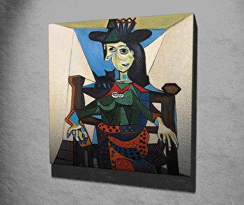 Tablou decorativ, Vega, Canvas 100 procente, lemn 100 procente, 45 x 45 cm, 265VGA1203, Multicolor