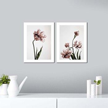 Tablou decorativ, Onno, MDF 100 procente, 2 piese, 62 x 40 cm, 264ONN2101, Multicolor