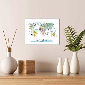 Tablou decorativ, Onno, MDF 100 procente, 30 x 40 cm, 264ONN1108, Multicolor elefant