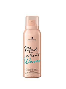 Sampon uscat pentru par ondulat Schwarzkopf Mad about Waves Refresher Dry Shampoo 150ml imagine produs