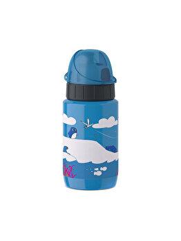 Sticla termos pentru copii Tefal Pinguin, 0.4 L, K3190412, Albastru