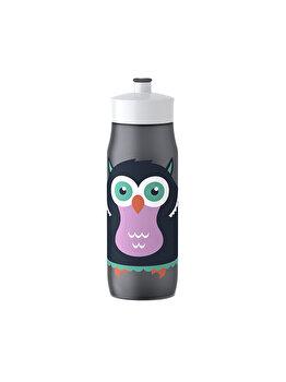 Recipient apa pentru copii TEFAL Squeeze Bufnita, 0.6 L, K3201112, Mov imagine