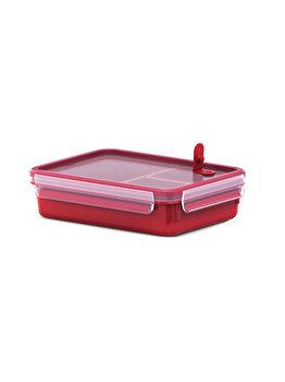 Caserola compartimentata TEFAL Clip Micro, 1.2 L, plastic, K3102412, Rosu