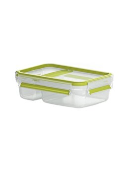 Caserola pentru iaurt TEFAL Clip&Go, 0.6 L, plastic, K3100712, Verde