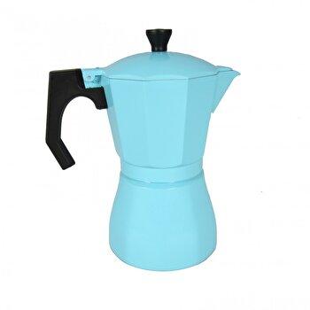 Cafetiera Jocca, Italian Navi Blue, 385 ml, 6 cesti, Albastru deschis