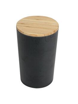 Cutie de depozitare, Jocca, bambus, 12 x 12 x 18.7 cm, Maro