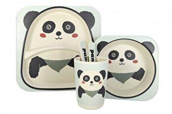 Set de masa, Green Future, Panda, pentru copii, Multicolor imagine