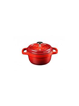 Cratita cu capac Heinner Home Chef 16 x 7.5 cm, 1.2 L, HR-KG-1675, Rosu imagine