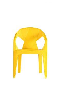Scaun Heinner, plastic, modern, HR-CHRPL-YLW, Galben imagine