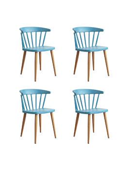 Set 4 scaune Sunny Heinner Home, plastic, HR-SCHRSUN-BLUE, Albastru