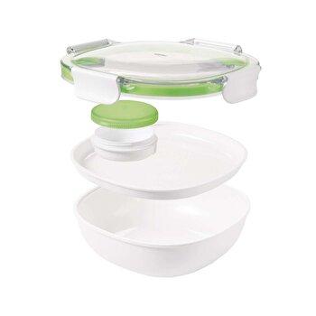 Caserola compartimentata pentru salata OXO, 21.5 x 8.4 cm, plastic, 11139700, Alb imagine