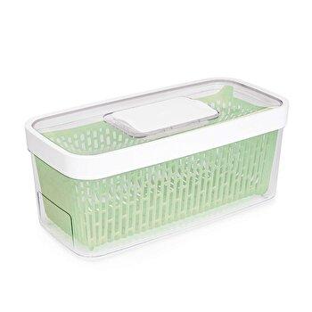 Recipient pentru pastrarea alimentelor OXO, 30.5 x 16.8 x 15.3 cm, 4,7 l, 11140100, Verde/Alb