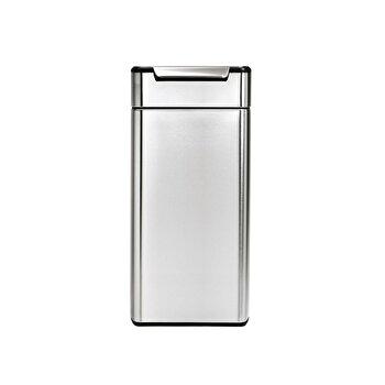 Cos de gunoi SimpleHuman, cu pedala superioara, 30 L, inox, CW2015, Argintiu