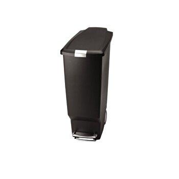 Cos de gunoi SimpleHuman, 40 L, cu pedala, plastic, CW1361, Negru