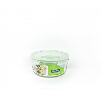 Caserola Glasslock, 920 ml, din sticla, MCCB095, Transparent/Verde imagine