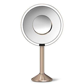 Oglinda cosmetica SimpleHuman, cu senzor, 23 cm, ST3011, Rose Gold imagine 2021