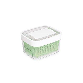 Recipient pentru pastrarea alimentelor OXO, 17,8 x 15,2 x 10 cm, 1,5 l, 11139900, Verde/Alb