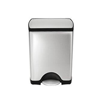 Cos de gunoi SimpleHuman, cu pedala, 30 L, inox, CW1884, Argintiu