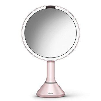 Oglinda cosmetica cu senzor, 23 cm, SimpleHuman, ST3029, Roz