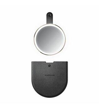 Oglinda cosmetica de buzunar SimpleHuman, cu senzor, 10.4 cm, ST3031, Rose Gold