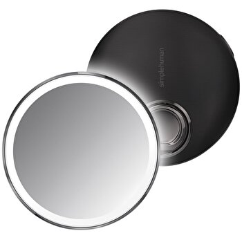 Oglinda cosmetica de buzunar SimpleHuman, cu senzor, 10.4 cm, ST3030, Negru