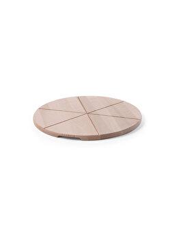 Planseta pizza Hendi, 50 cm, 505588, lemn de fag brut, Alb