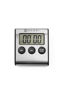 Timer digital pentru bucatarie, Hendi, cu magnet prindere, 65 x 70 x 17 mm, 582022, Gri