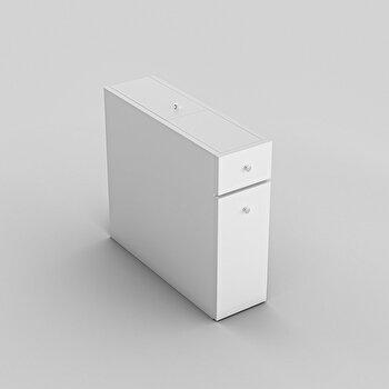 Dulapior baie, Kalune Design, 19 x 55 x 60 cm, pal melaminat, 854KLN3901, Alb imagine