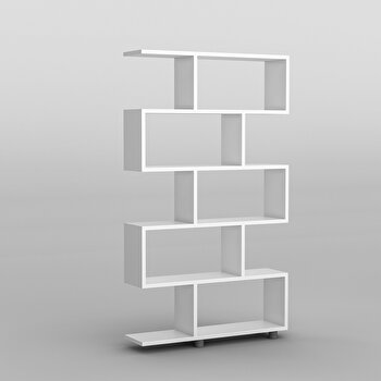Biblioteca, Kalune Design, 90 x 156 x 20 cm, pal melaminat,854KLN3601, Alb