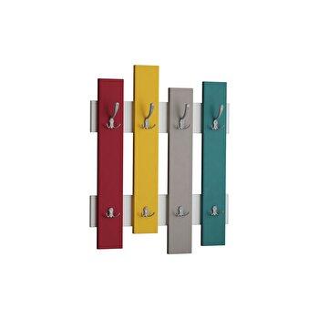 Cuier, Decortie, 8 agatatori duble, 64 x 81 x 4 cm, pal melaminat, 855DTE4014, Multicolor