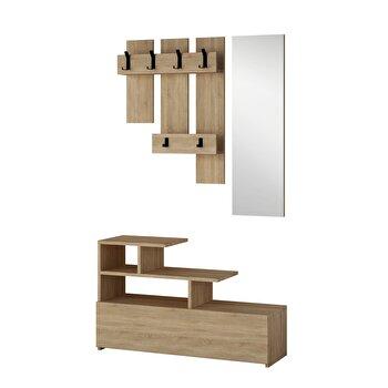 Set mobila hol, Homitis, 30 x 61 x 100 cm, pal melaminat, 776HMS4042, Maro